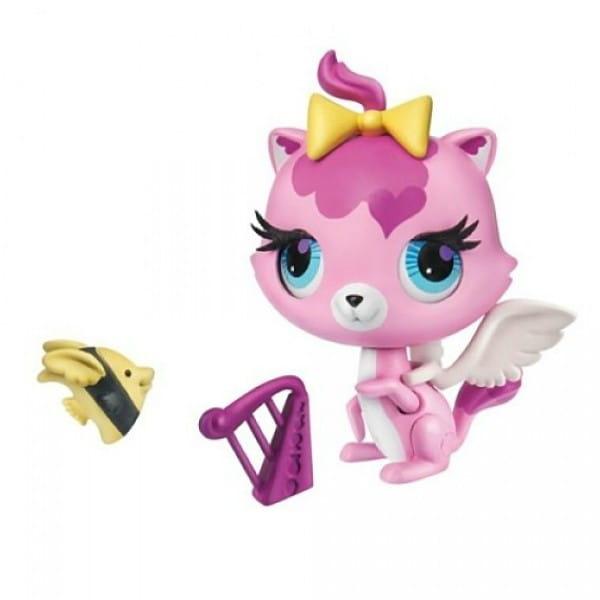 Купить Игровой набор Littlest Pet Shop Трюки и таланты - Кошка (Hasbro) в интернет магазине игрушек и детских товаров