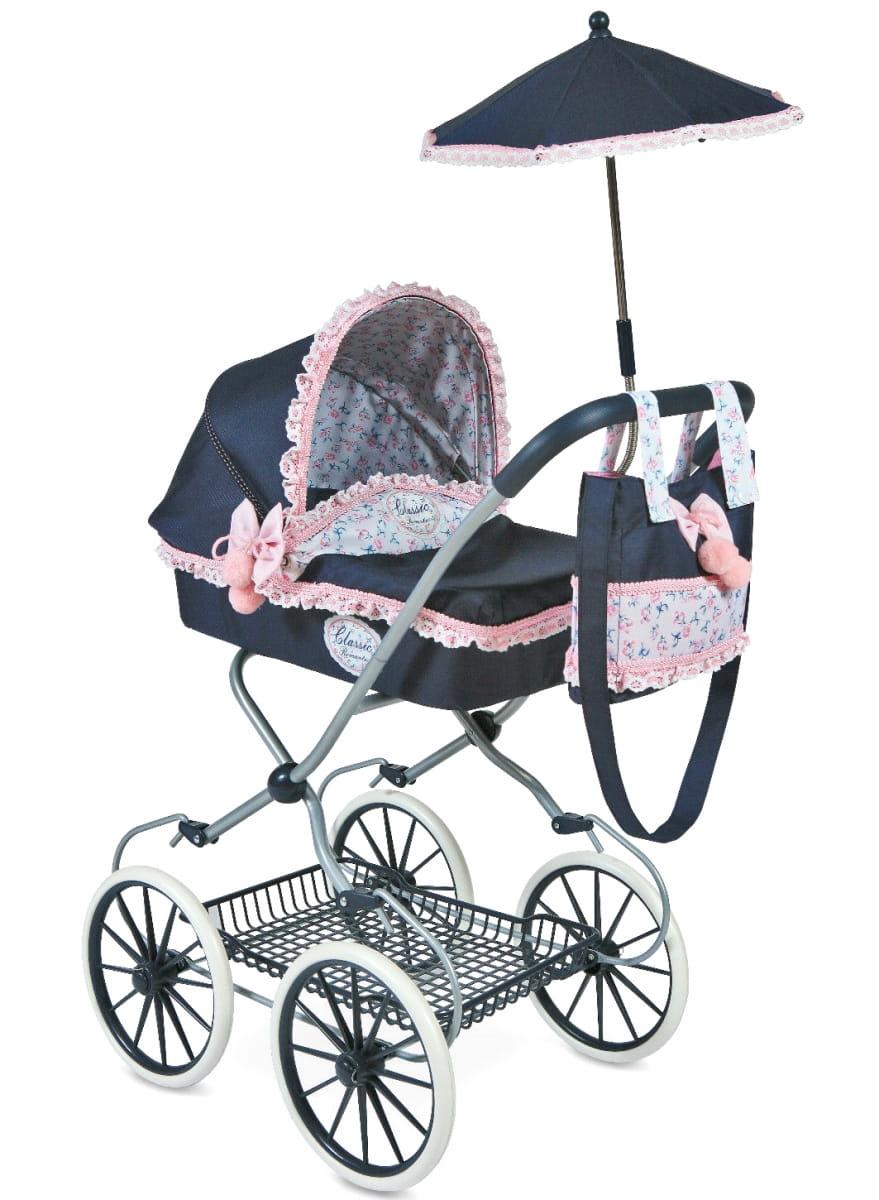 Коляска для кукол Decuevas 81014 Романтик - 81 см (с сумкой и зонтиком)