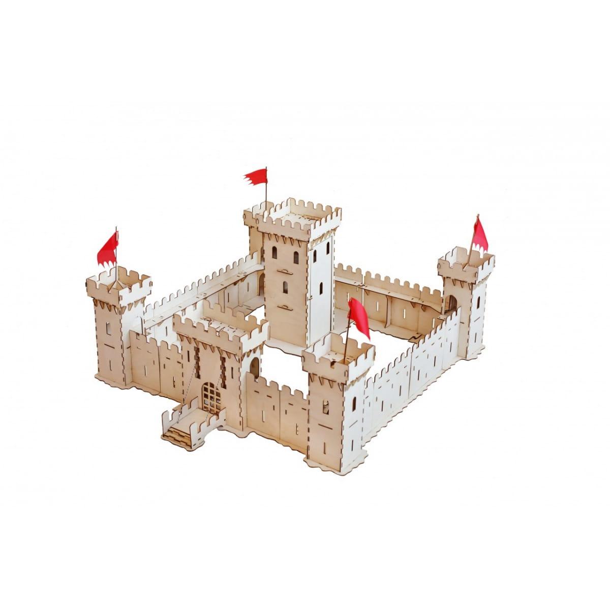 Сборная деревянная модель Большой слон Д-003 Большая средневековая крепость