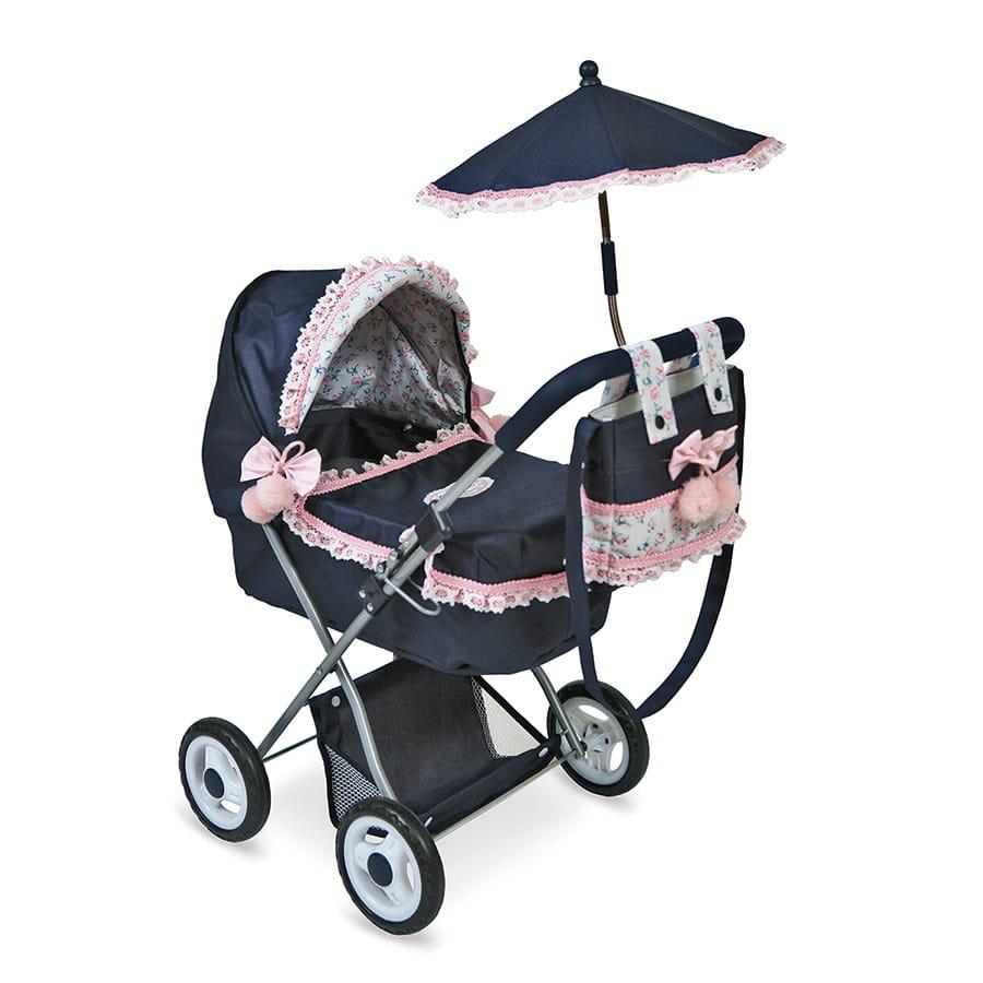 Коляска для кукол Decuevas 85014 Романтик - 65 см (с сумкой и зонтиком)