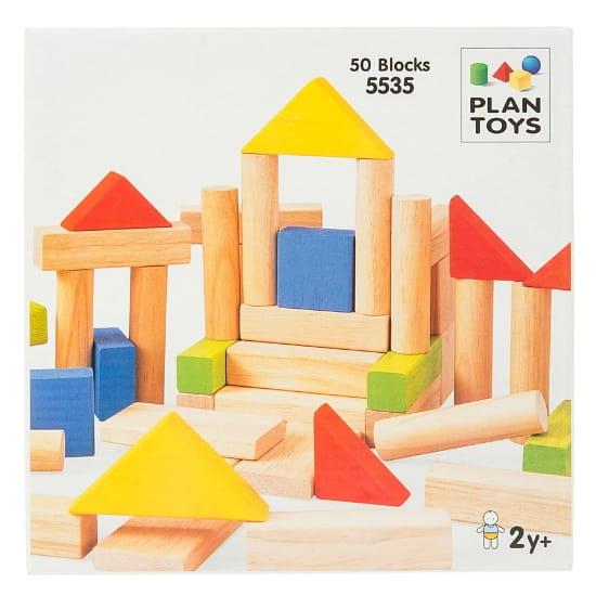 Конструктор Plan Toys 5535 Блоки (50 деталей)