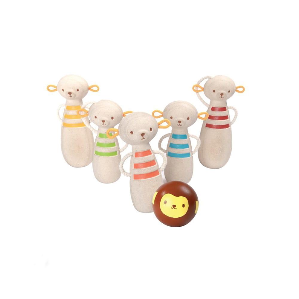Развивающая игра Plan Toys 5653 Боулинг обезьяна