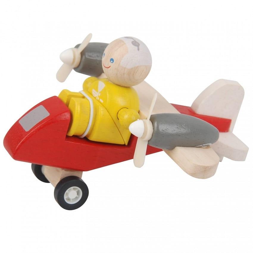 Игровой набор PLAN TOYS Самолетик с пилотом