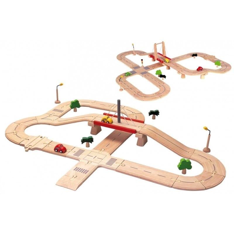 Игровой набор Plan Toys Дорога Делюкс