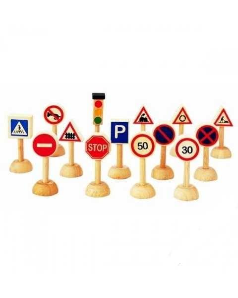 Игровой набор Plan Toys 6203 Дорожные знаки
