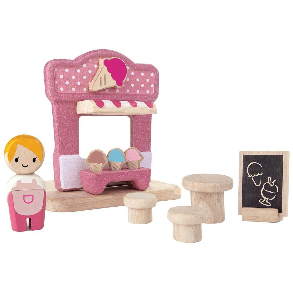 Игровой набор Plan Toys 6614 Ларек с мороженым
