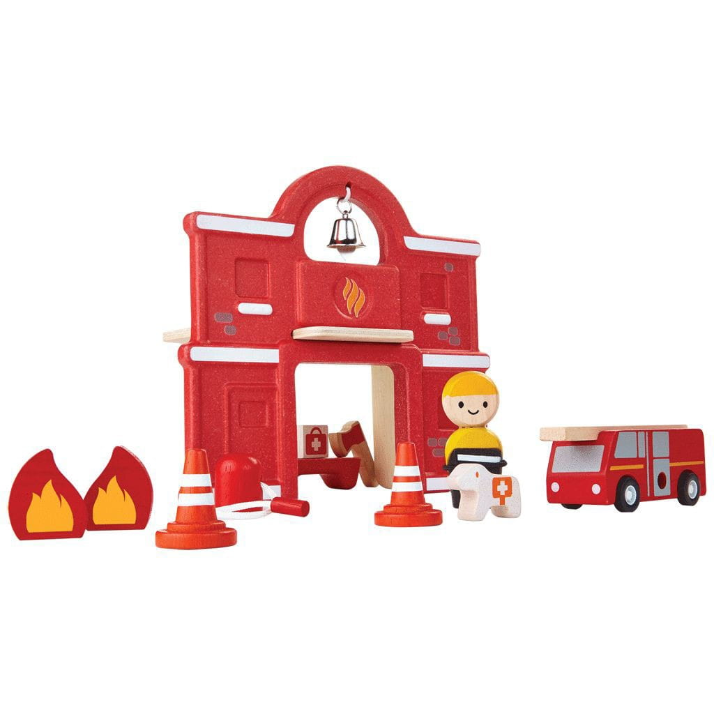 Игровой набор Plan Toys 6619 Пожарная станция