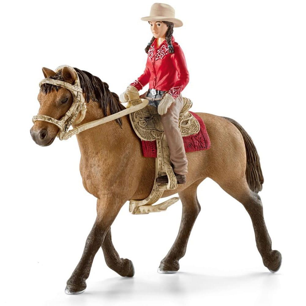Набор Schleich 42112 Всадница с лошадью Вестерн