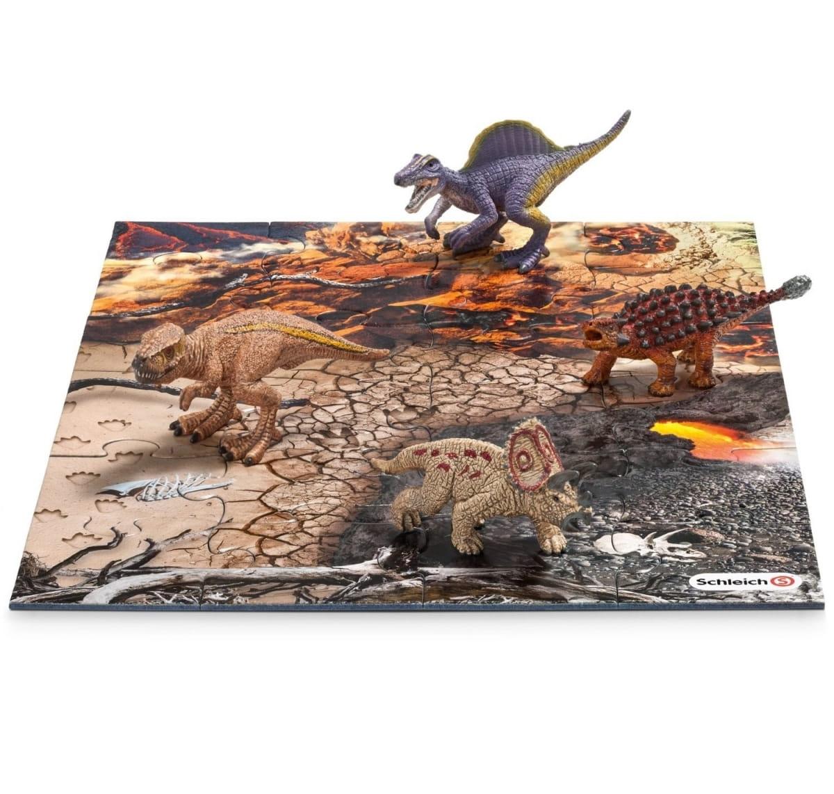 Игровой набор Schleich 42212 Мини-динозавры и пазл Исследование
