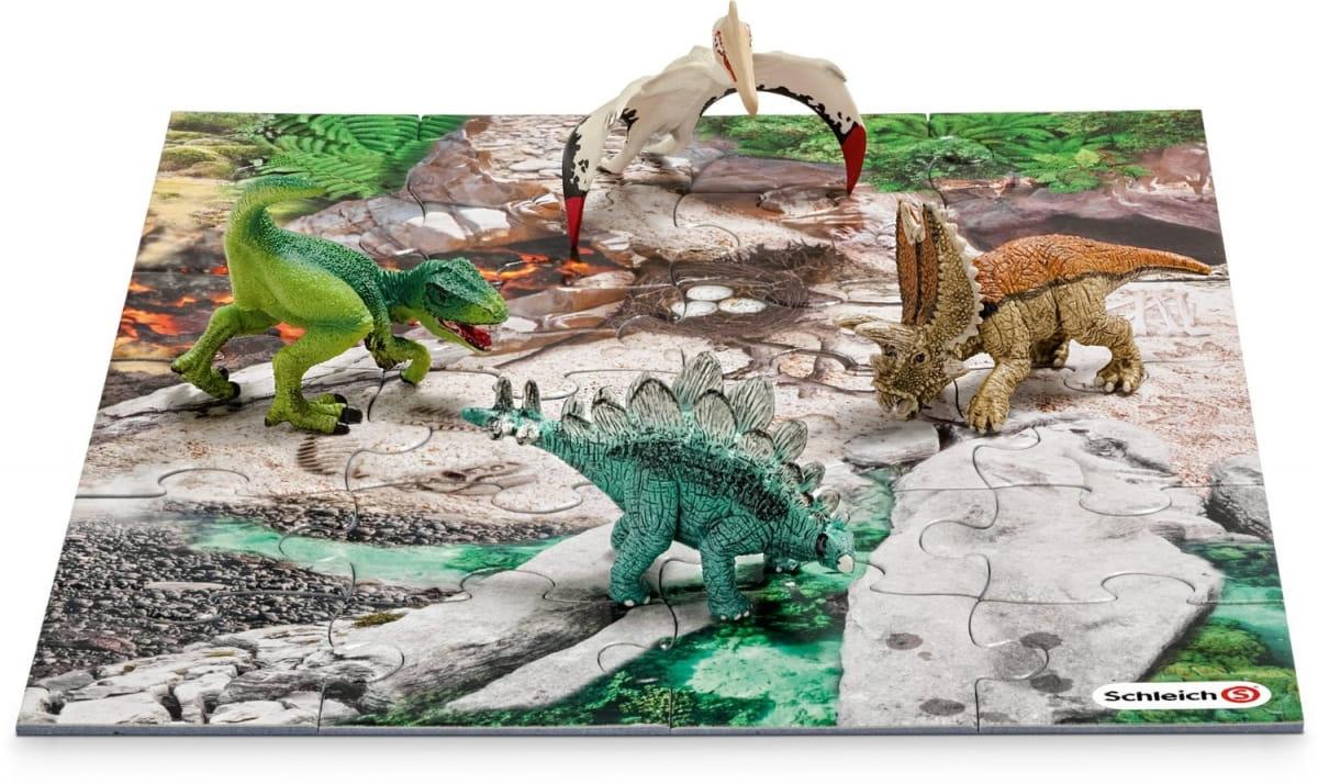 Игровой набор Schleich 42213 Мини-динозавры и пазл Лавовые поля