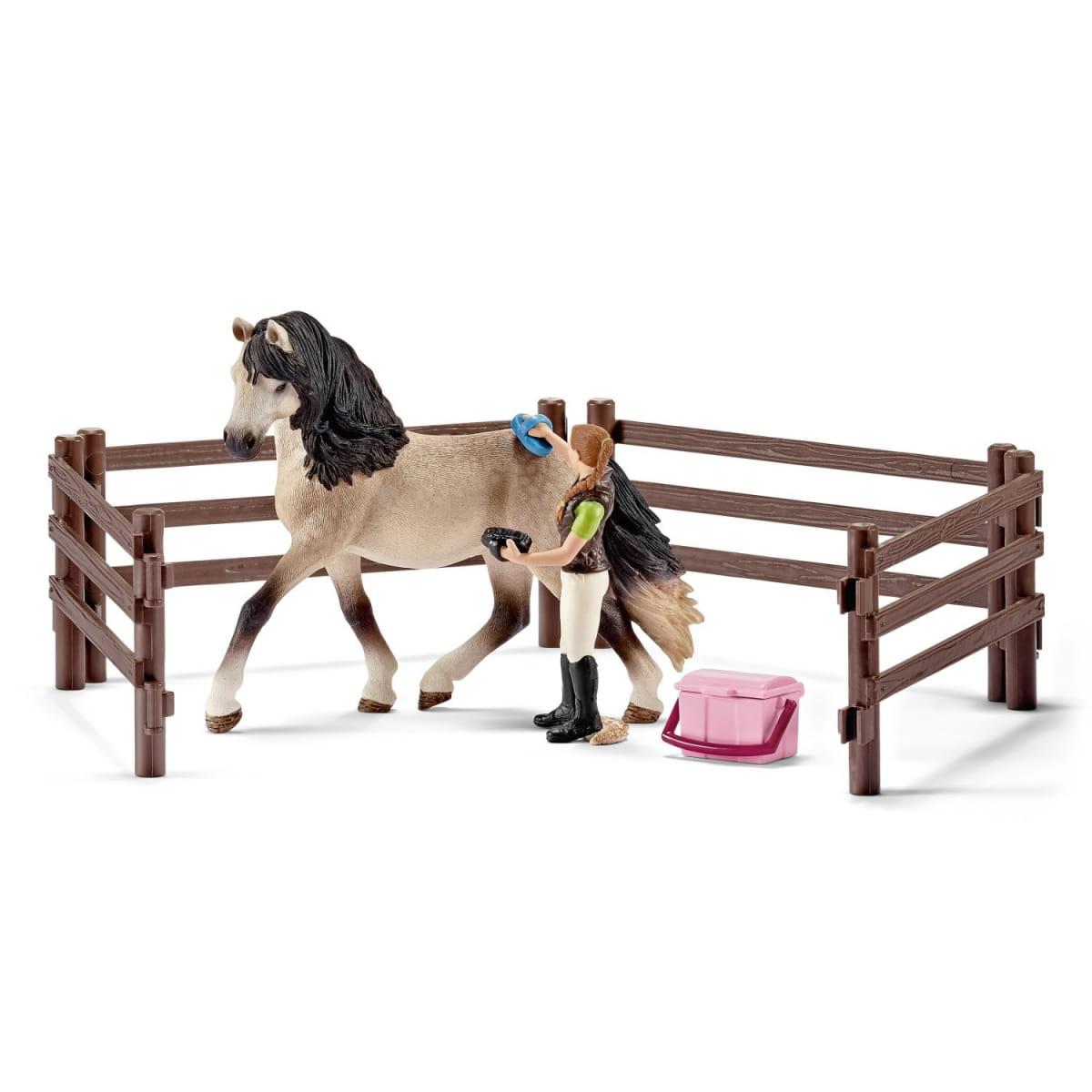 Набор Schleich 42270 для ухода за лошадьми Андалузский