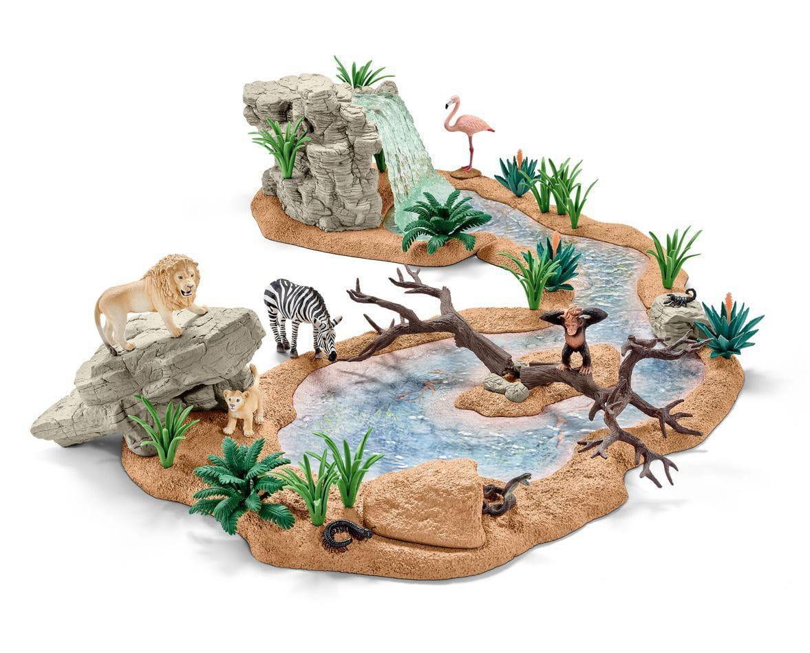 Большой набор Schleich Заводь с животными - Фигурки животных