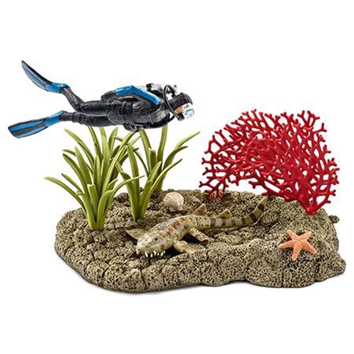 Набор Schleich 42328 Риф под водой с дайвером