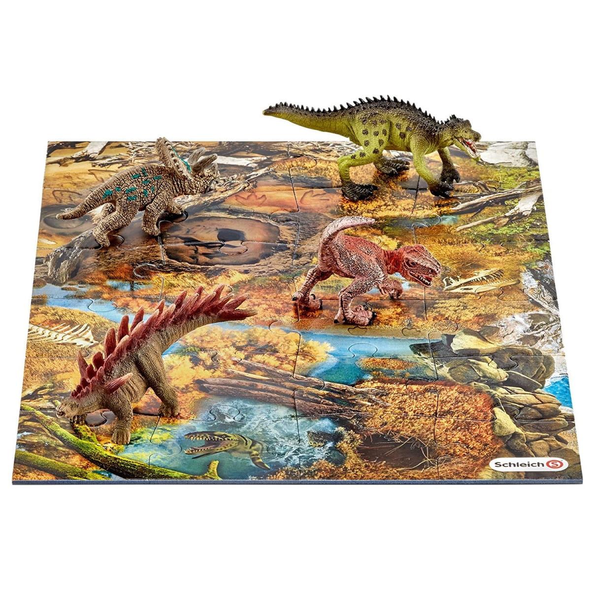 Игровой набор Schleich 42331 Мини-динозавры и пазл Заводь