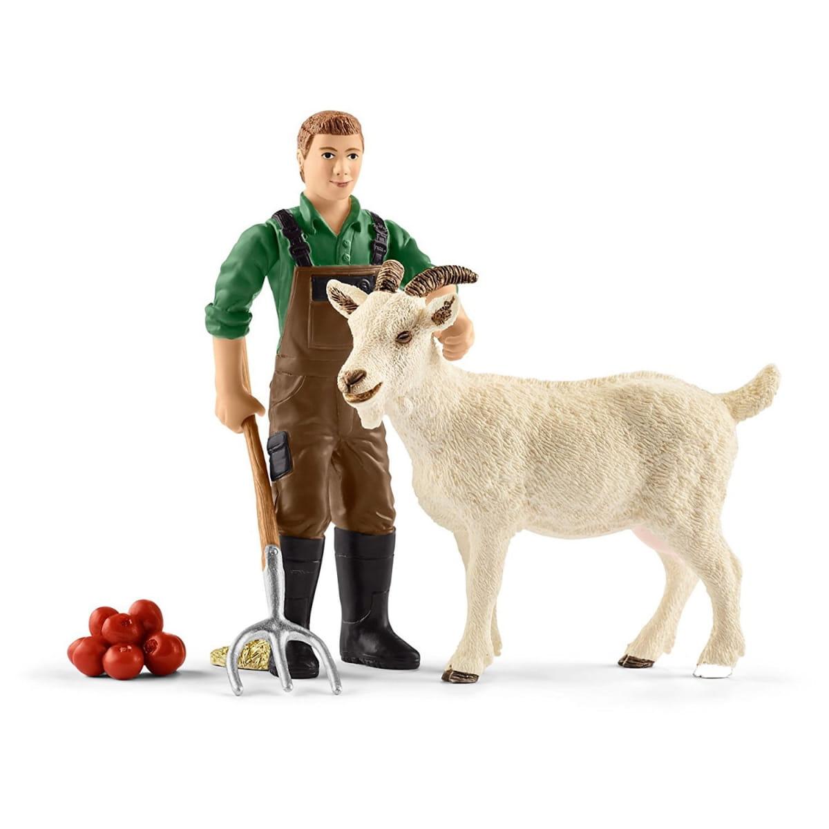 Набор Schleich Фермер с козлом