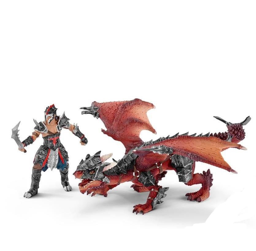 Игровой набор Schleich 70128 Eldrador Воин с драконом