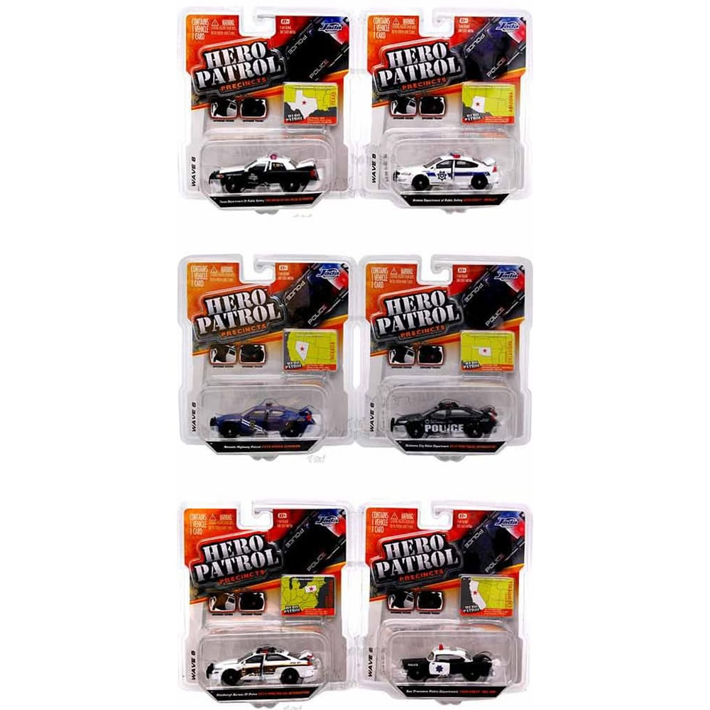 Полицейская машинка Jada Toys 14016-W6 Hero Patrol 1:64