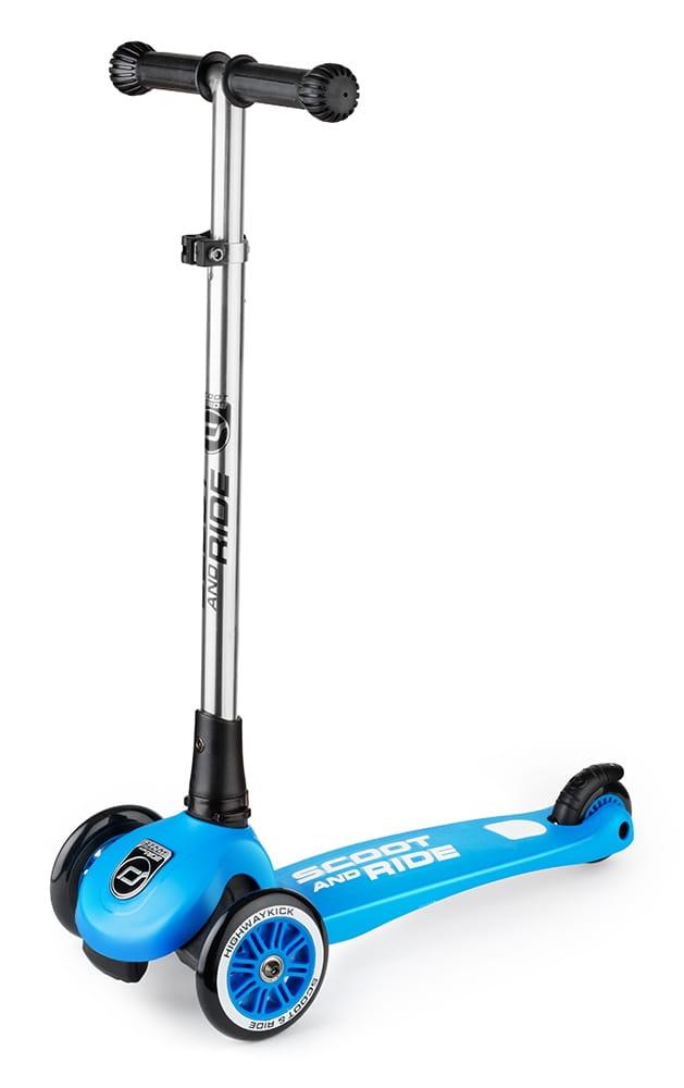 Детский трехколесный самокат Scoot and Ride 1373318 Highway Kick 3 light (синий)