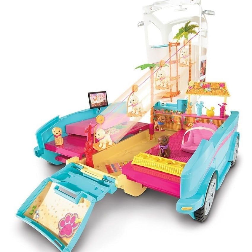 Игровой набор Barbie DLY33 Барби Раскладной фургон для щенков (Mattel)
