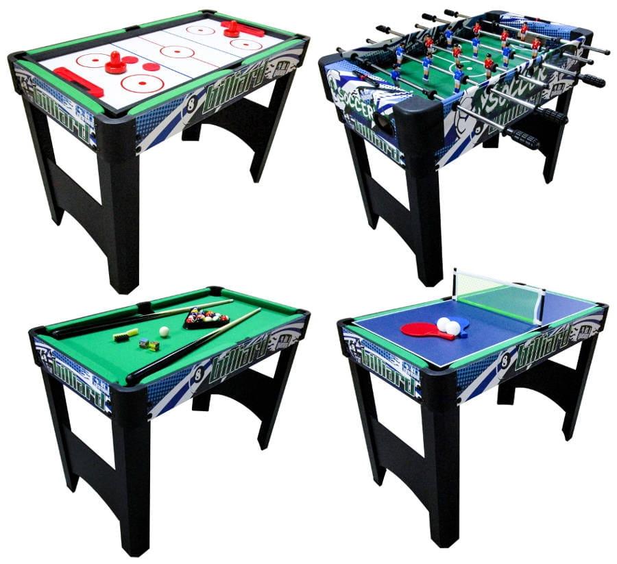 Игровой стол DFC GS-GT-1205 Fun 4 в 1 (бильярд, аэрохоккей, теннис, футбол)