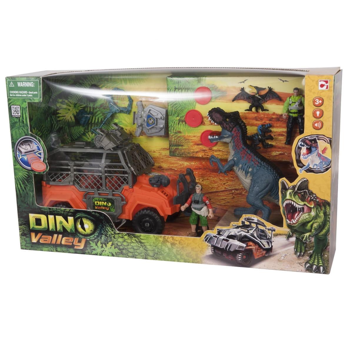 Игровой набор Dino Valley Большая охота на Тиранозавра (Chap Mei)