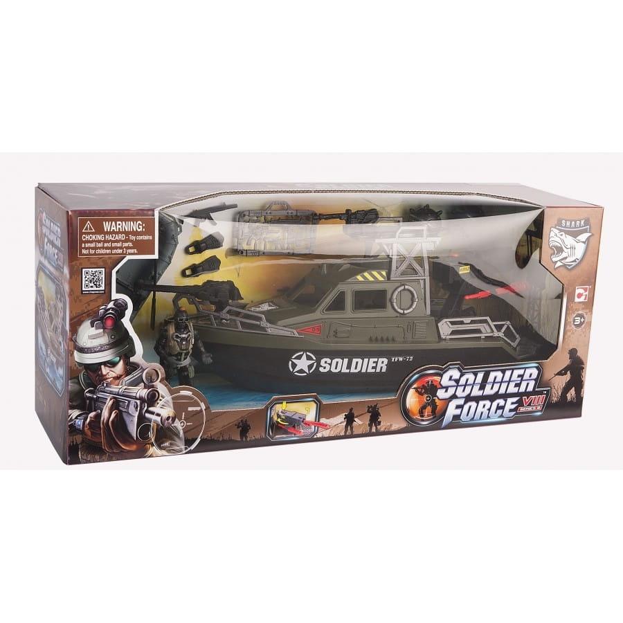 Игровой набор Chap Mei 521004 Soldier Force - Ракетный катер с лодкой