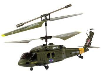 Купить Радиоуправляемый вертолетSyma S102 Gyro Black Hawk UH-60 1:64 в интернет магазине игрушек и детских товаров