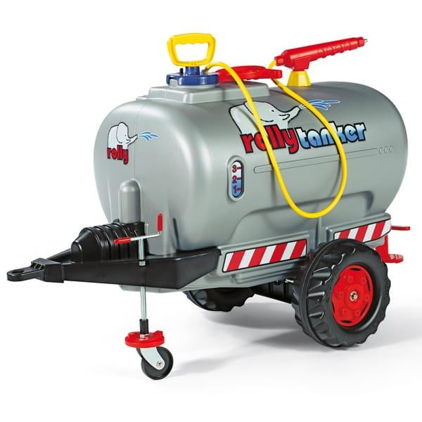 Цистерна с помпой для педального трактора Rolly Toys Tanker - серебряная