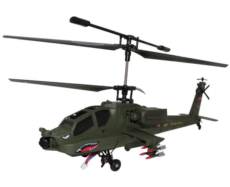 Радиоуправляемый вертолет Syma s023G S023g Gyro Apache AH-64 1:32