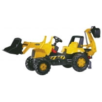 Фото Педальный трактор Rolly Toys Junior JCB Backhoe Loader