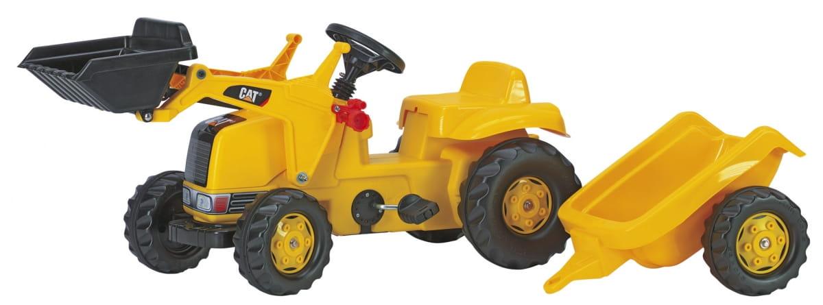 Педальный трактор Rolly Toys rollyKid CAT с прицепом и ковшом - Каталки и ходунки