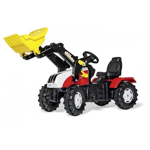 Педальный трактор Rolly Toys rollyFarmtrac Steyr CVT с ковшом - Каталки и ходунки