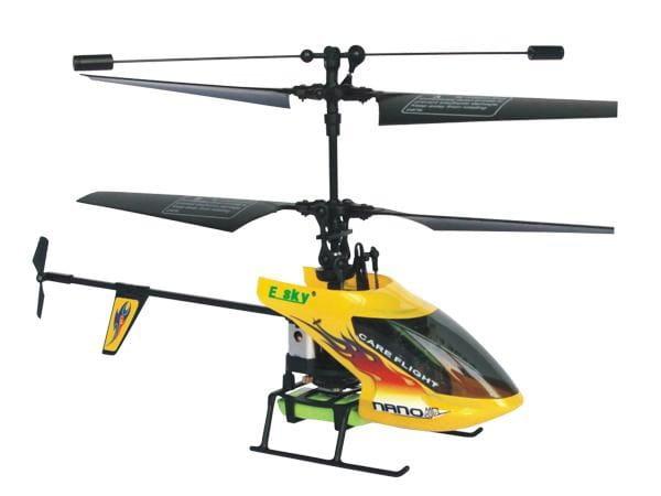 Купить Радиоуправляемый вертолет E-sky 3D Nano желтый в интернет магазине игрушек и детских товаров