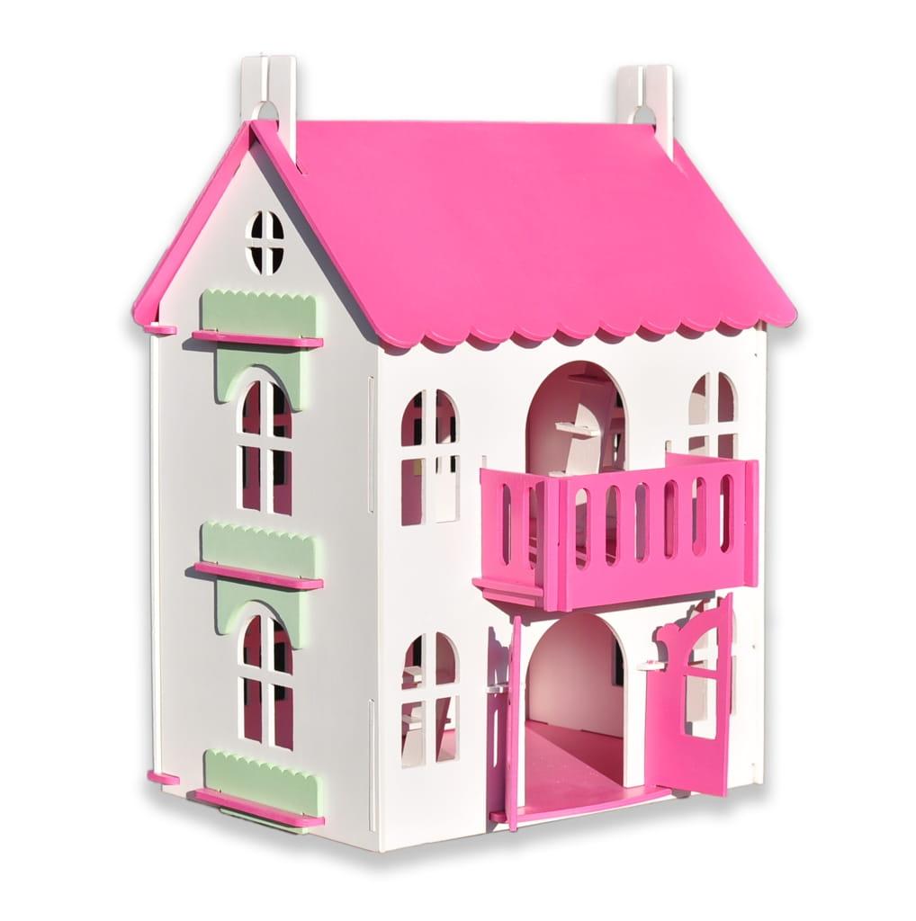 Кукольный домик WOOD LINES Арина - розовый