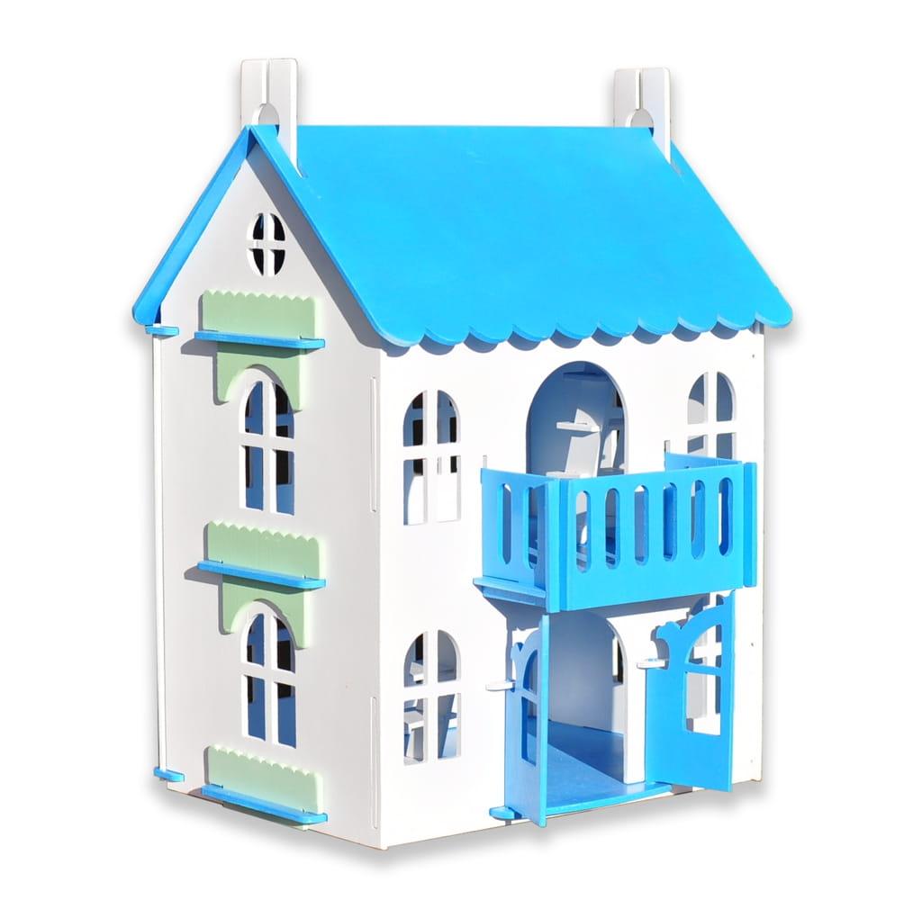 Кукольный домик WOOD LINES Арина - голубой