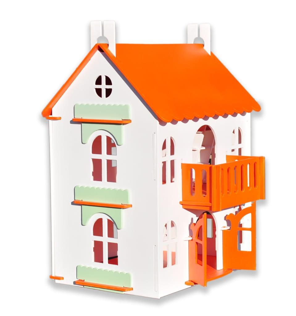 Кукольный домик WOOD LINES Арина - оранжевый