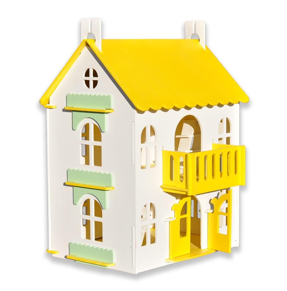 Кукольный домик WOOD LINES Арина - желтый