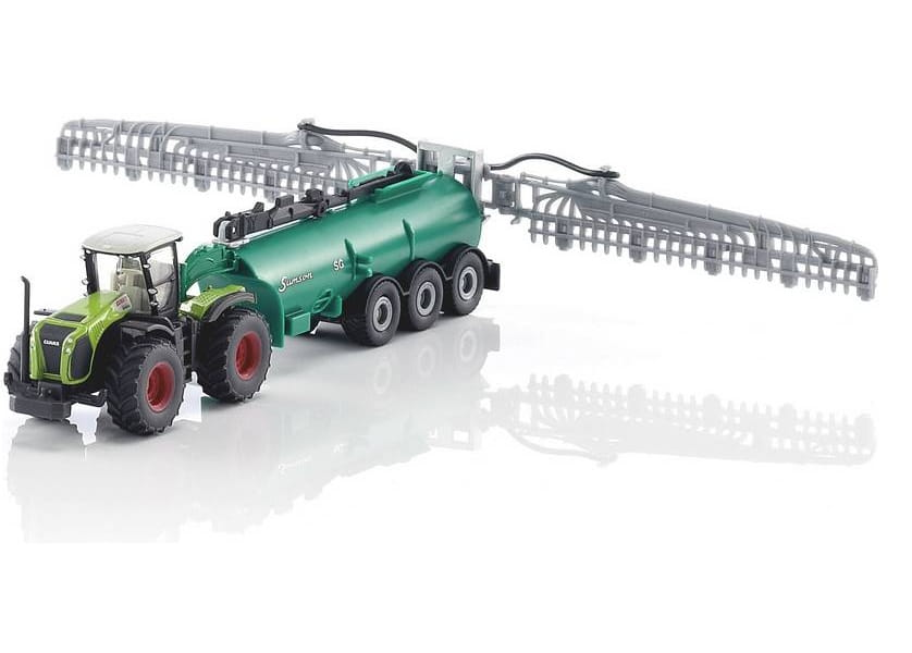 Трактор Siku Claas Xerion с вакуумным танкером 1:87