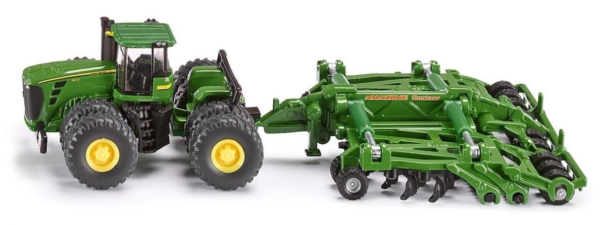 Трактор SIKU c прицепом-плугом 1:87