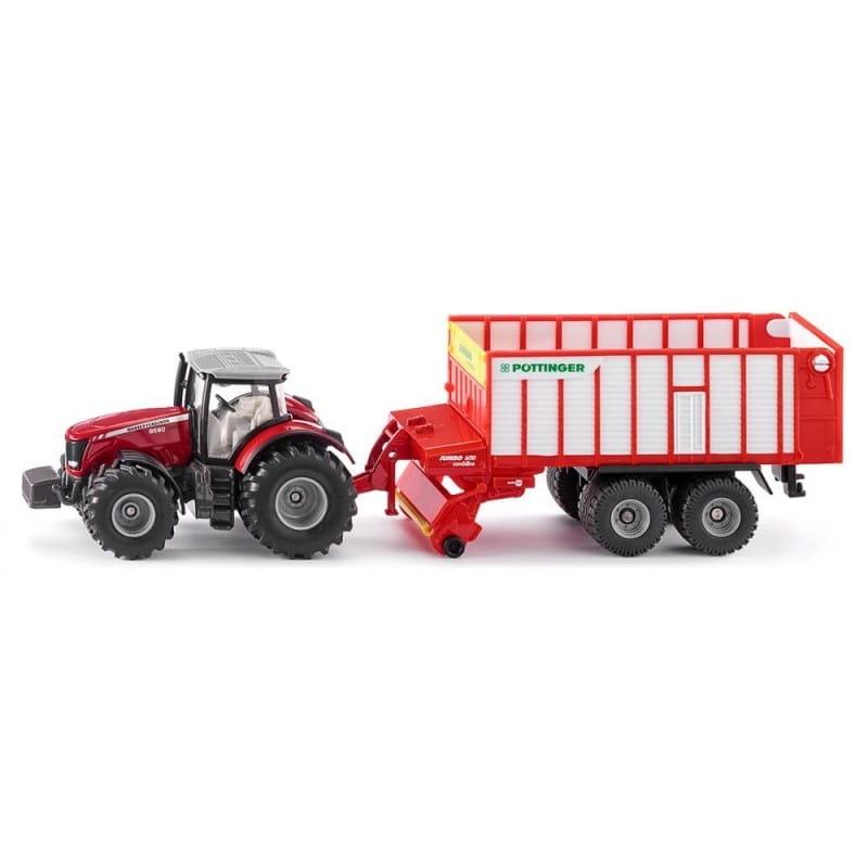 Трактор SIKU Massey Ferguson с кузовом Poettinger Jumbo