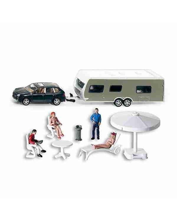 Машина SIKU с домом на колесах и аксессуарами