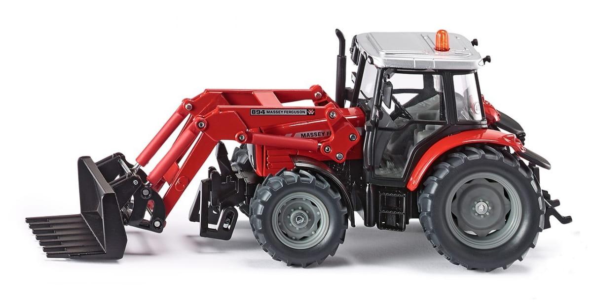 Трактор Siku 3653 с ковшом-вилами 1:32 - красный