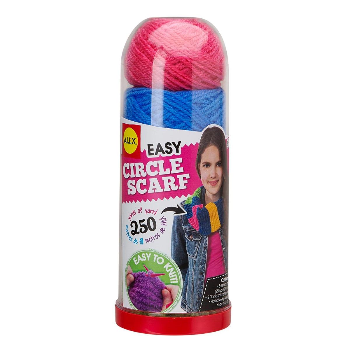 Набор для вязания спицами Alex Круговой шарф