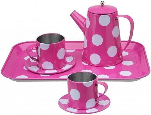Чайный набор Alex 705PD розовый в горошек