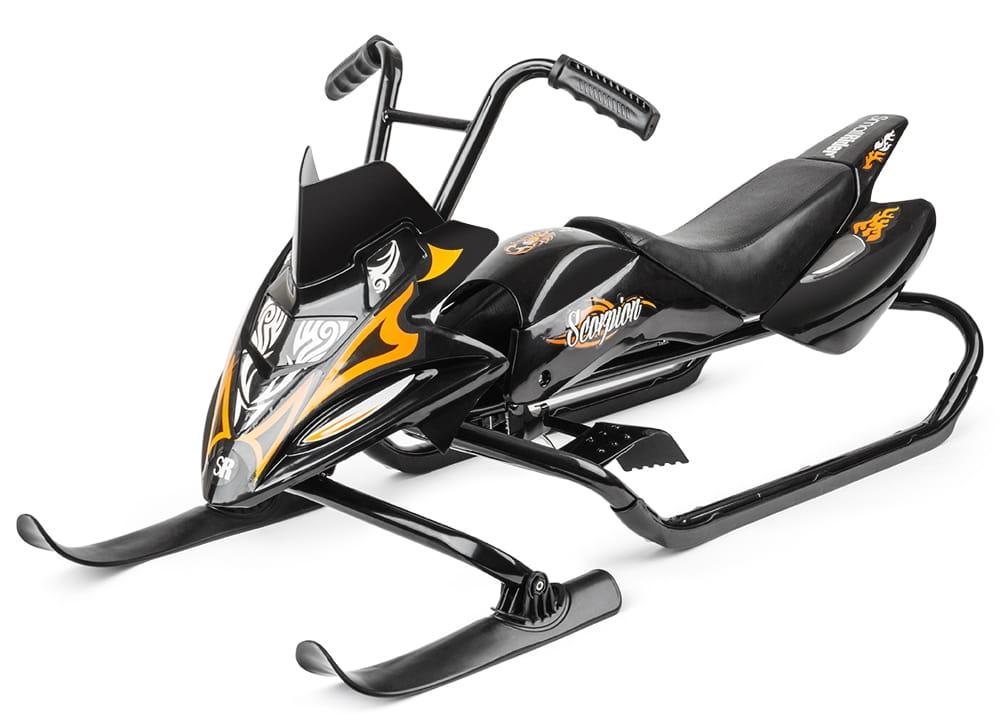 Снегокат-снегоход Small Rider 1184515 Scorpion - черный с оранжевым