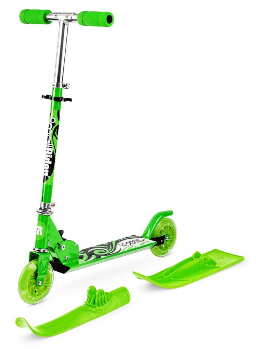 Самокат-снегокат с лыжами и колесами Small Rider Combo Runner 120  зеленый - Снегокаты и санки