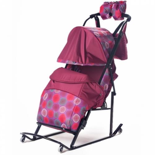 Санки-коляска Kristy 1374124 Comfort Plus - бордовый