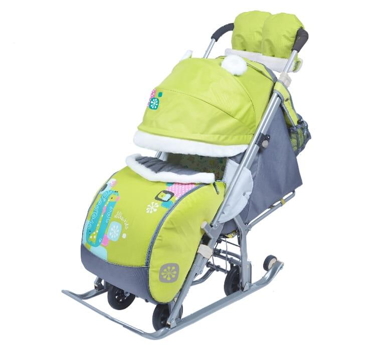 Санки-коляска Ника 1374023 - жираф лимонный