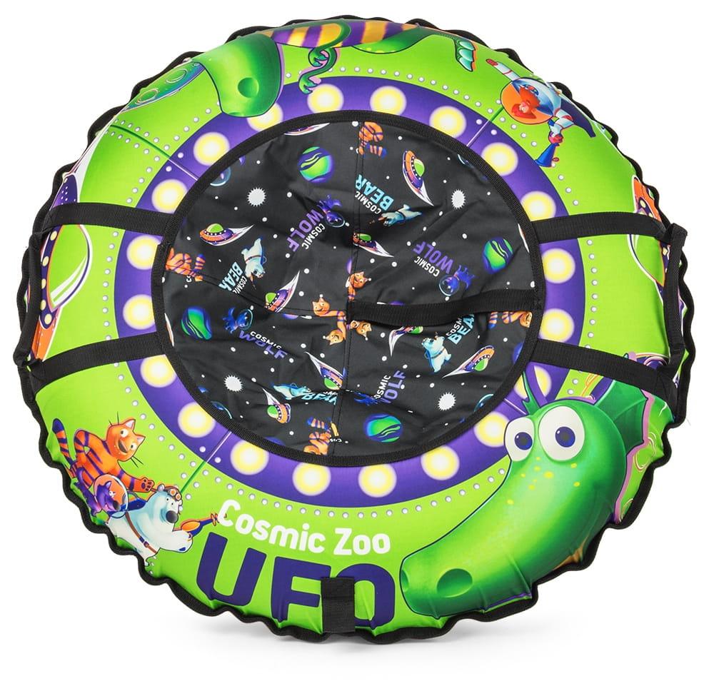 Тюбинг Cosmic Zoo 472063 UFO Зеленый динозаврик