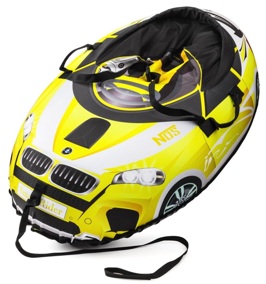 Надувные санки-тюбинг Small Rider 332136 Snow Cars 2 - желтые